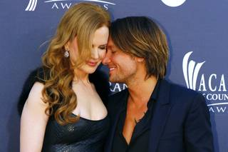 Actress Nicole Kidman and her husband, music recording artist Keith Urban, pose at the 46th annual Academy of Country Music Awards in Las Vegas April 3, 2011.