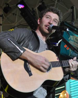 Brett Eldredge at Fremont Street on April 1, 2011.