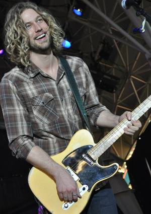 Casey James at Fremont Street on April 1, 2011.