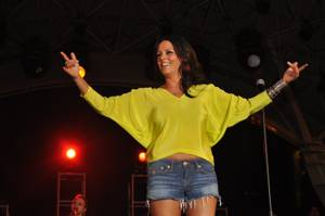 Sara Evans at Fremont Street on April 1, 2011.