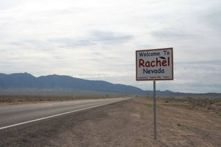 The town of Rachel on the Extraterrestrial Highway.