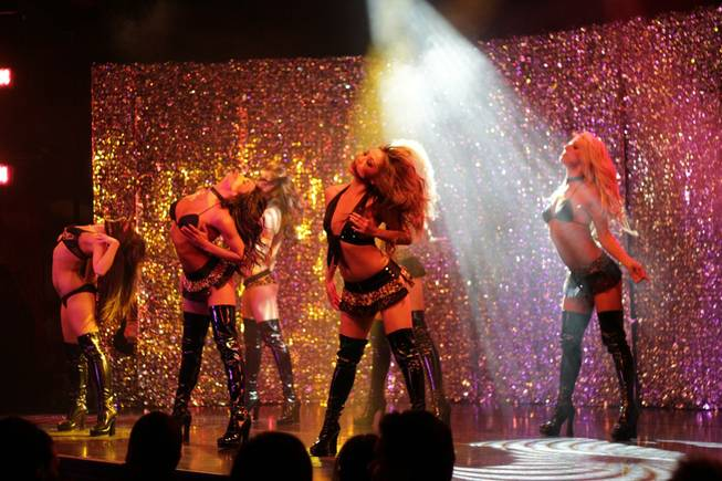 <em>X Burlesque</em>'s fourth anniversary at the Flamingo on April 7, 2011.