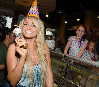 Angel Porrino at Ben & Jerry's at The District in Green Valley Ranch on March 12, 2011.