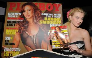 May 2011 Playboy Playmate Sasha Bonilova at Palms