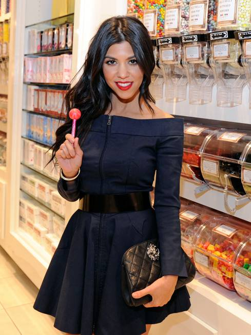 Kourtney Kardashian with a Couture Pop at Sugar Factory at ...
