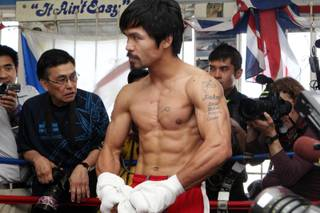Manny Pacquiao's media day workout at Wild Card Boxing Club in Hollywood, Calif., on April 20, 2011.