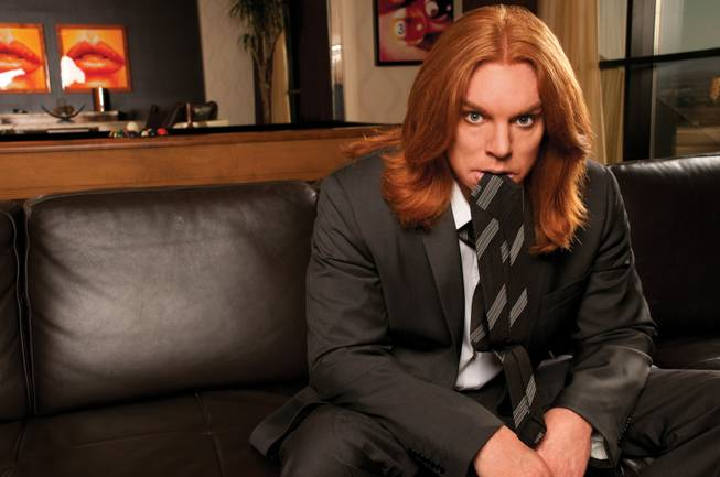 "Comedian Scott ""Carrot Top"" Thompson poses during a cover shoot for LVM, March 28, 2011."
