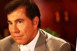 Steve Wynn meets with the media in a villa at Wynn Las Vegas on Wednesday, April 27, 2011.