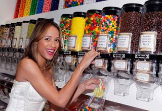 Dania Ramirez at Sugar Factory American Brasserie at Paris on April 29, 2011.