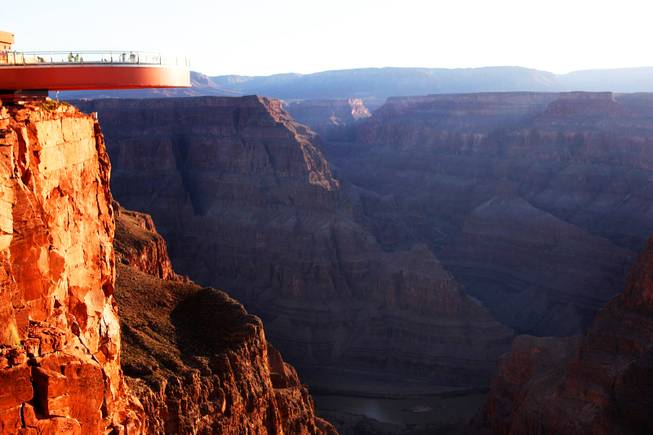 The Skywalk at Grand Canyon West Tuesday, May 3, 2011 just after the glass panels were replaced.