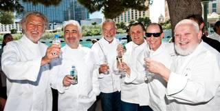 The Champagne Saber-Off for Bon Appetit Vegas Uncork'd at the Bellagio on May 5, 2011.