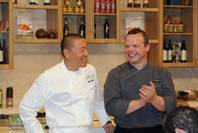 Chefs Akira Back and Martin Heierling at Vegas Uncork'd on May 6, 2011.