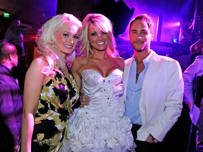 Holly Madison, Angel Porrino and Josh Strickland at Gallery Nightclub in Planet Hollywood on May 14, 2011, for Porrino's 22nd birthday.