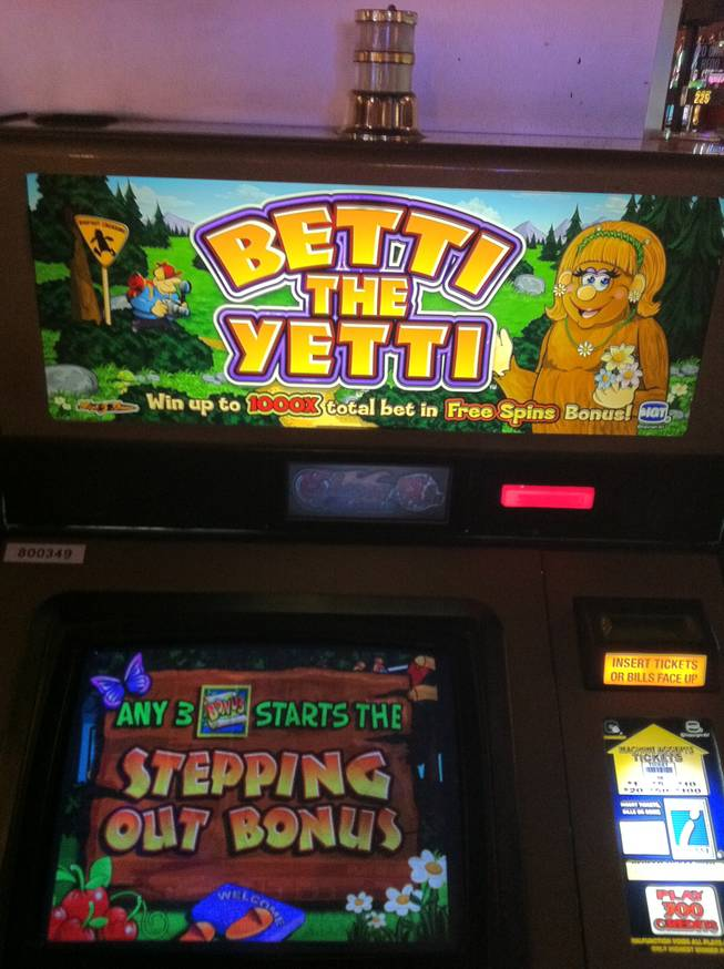 Betty the Yetti, the queen of casino-floor slots at the Sahara.