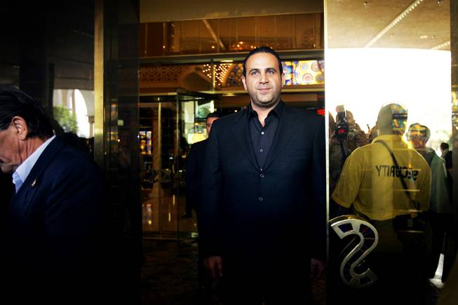 Monday, May 16, 2011 at 2:12 p.m. - Sam Nazarian, the CEO of SBE Enertainment, the company that owns the Sahara, waves goodbye to the crowd after locking the final door to the casino.