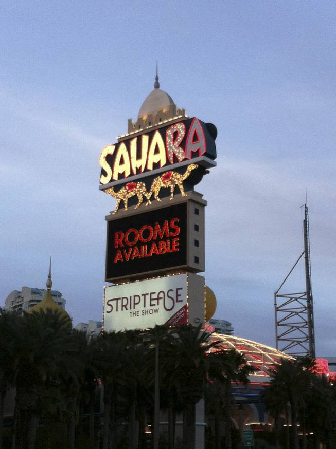 The Sahara marquee on the day of closing. (6:30 a.m. May 16)