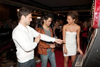 Justin Bartha, Mason Lee and Jamie Chung at The Hangover Part II Premiere at The Peepshow Theater at Planet Hollywood on May 21, 2011.