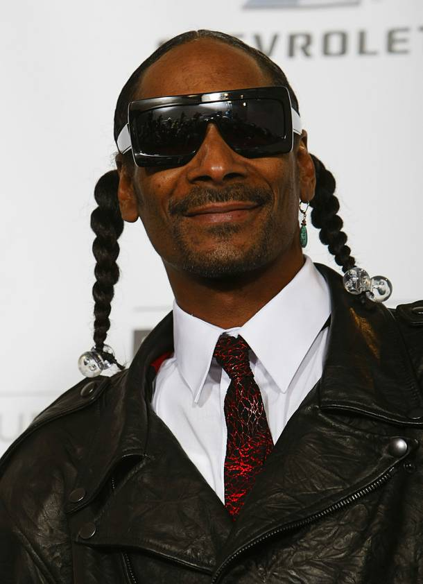 Rapper Snoop Dogg poses on the photo room  during the Billboard Music Awards Show at the MGM Grand Garden Arena Sunday, May 22, 2011.