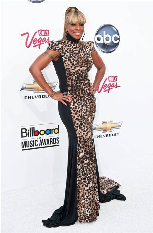 Mary J. Blige at the 2011 Billboard Music Awards at MGM Grand Garden Arena on May 22, 2011.