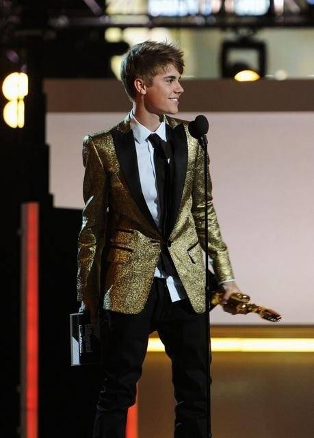 Justin Bieber during the 2011 Billboard Music Awards at MGM Grand Garden Arena on May 22, 2011.