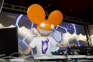 Deadmau5 at Encore Beach Club's first anniversary at the Encore on May 30, 2011.