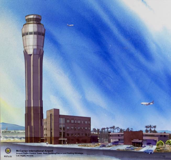 An artist's illustration shows the new $99 million Federal Aviation Administration air traffic control facility that will be built at McCarran International Airport. The facility is expected to be operational in early 2015.