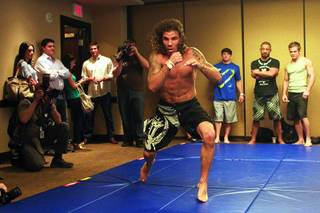 Clay Guida shadow boxes during workouts for the TUF Season 13 fight card Thursday, June 2, 2011.