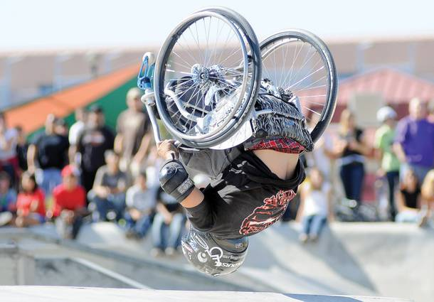 Hometown legend and inspirational professional wheelchair athlete Aaron Fotheringham, aka Wheelz, returns home this weekend as part of Nitro Circus Live.