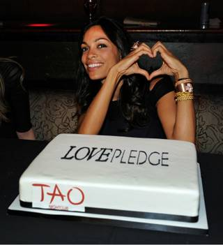 Rosario Dawson at Tao in the Venetian for the launch of Love Universe jewelry on June 3, 2011.