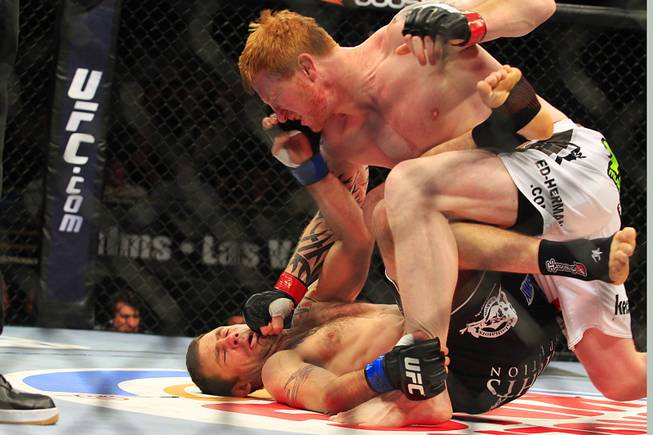 Ed Herman finishes off Tim Credeur during their bout at The Ultimate Fighter Season 13 finale Saturday, June 4, 2011.