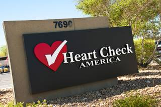 A building at 7690 W. Sahara Ave. previously known as Heart Check America, sits empty on Monday, June 6, 2011.