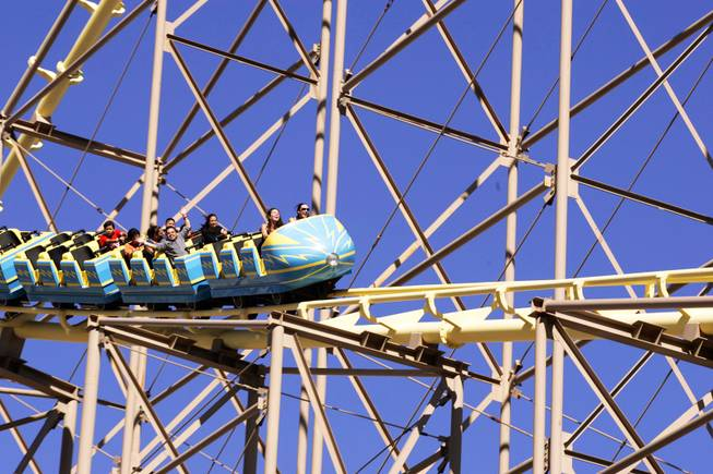 The Desperado roller coaster at Buffalo Bill's in Primm is seen on Monday, June 6, 2011.