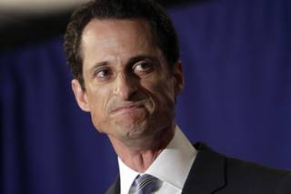U.S. Rep. Anthony Weiner, D-N.Y., reacts during a news conference in New York,  Monday, June 6, 2011.