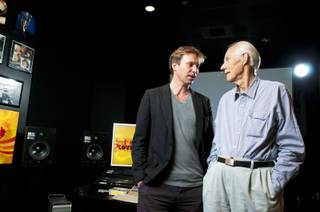 Giles Martin and his father, Sir George Martin, in the listening room at The Love Theater at the Mirage on Tuesday, June 7, 2011. They are in town to celebrate the fifth anniversary of Cirque du Soleil's
