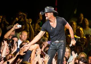 Tim McGraw performs at The Joint in the Hard Rock Hotel on June 7, 2011.