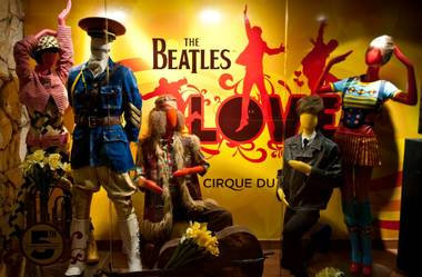 The fifth-anniversary celebration of The Beatles Love by Cirque du Soleil at the Mirage on June 8, 2011.