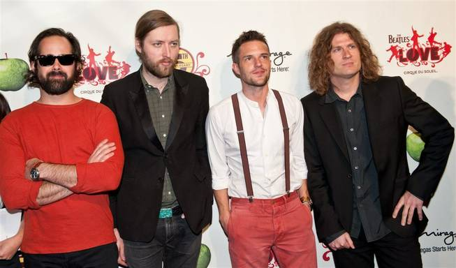 The Killers at the fifth-anniversary celebration of <em>The Beatles Love by Cirque du Soleil</em> at the Mirage on June 8, 2011.