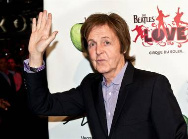 Sir Paul McCartney at the fifth-anniversary celebration of The Beatles Love by Cirque du Soleil at the Mirage on June 8, 2011.