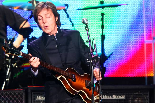 Paul McCartney performs at the MGM Grand Garden Arena in Las Vegas Friday, June 10, 2011.