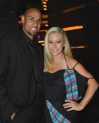 Hank Baskett and Kendra Wilkinson at The Heart Bar in Planet Hollywood on March 27, 2010.