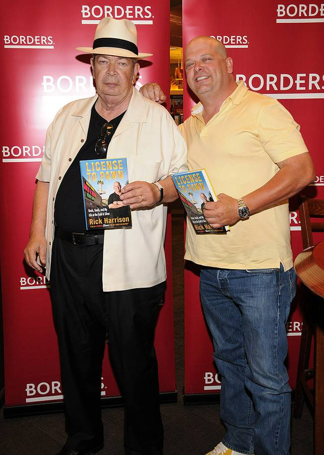 Richard Harrison and Rick Harrison at Borders in Town Square to sign copies of the latter's new book <em>License to Pawn</em> on June 10, 2011.