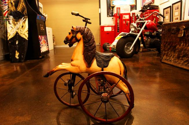 "This tricycle is one of the many distinctive items for sale at Gold & Silver Pawn, where the reality TV show ""Pawn Stars"" is filmed."