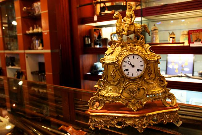 "The ""death clock"" is one of the many distinctive items for sale at Gold & Silver Pawn, where the reality TV show ""Pawn Stars"" is filmed."