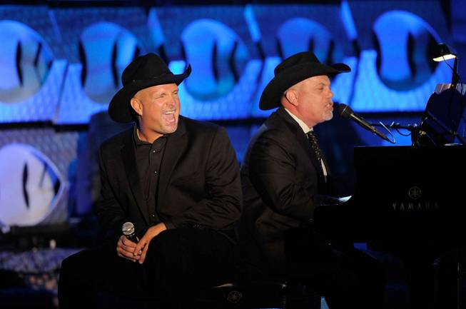 Garth Brooks and Billy Joel at the Songwriters Hall of Fame in New York City on June 16, 2011.