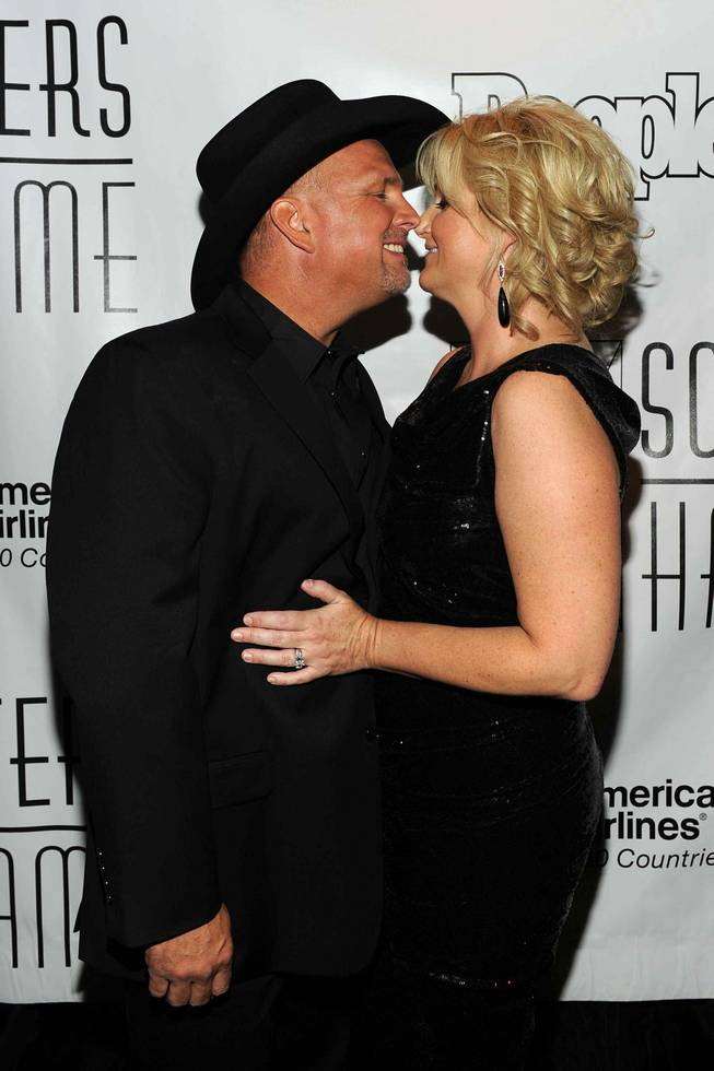 Garth Brooks and Trisha Yearwood at the Songwriters Hall of Fame in New York City on June 16, 2011.