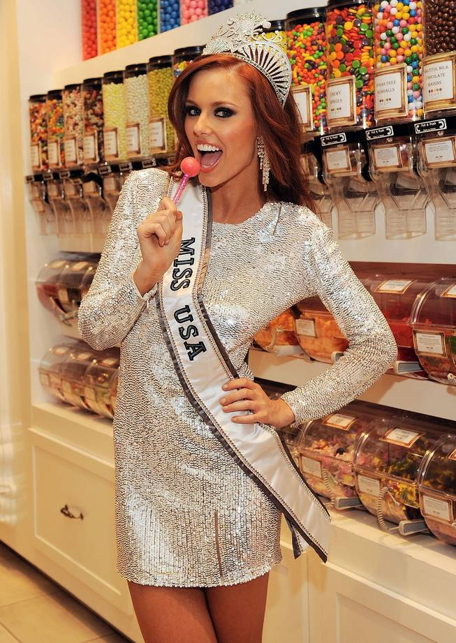 2011 Miss USA Alyssa Campanella at Sugar Factory at the Paris on June 19, 2011.