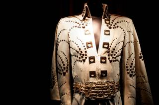 Elvis' Shooting Star jumpsuit on display at Hard Rock was worn by the artist on stage at Madison Square Garden on June 10, 1972.