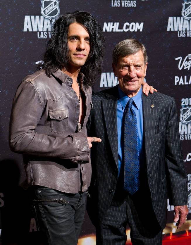 Criss Angel and Ted Lindsay at the 2011 NHL Awards at The Pearl in the Palms on June 22, 2011.