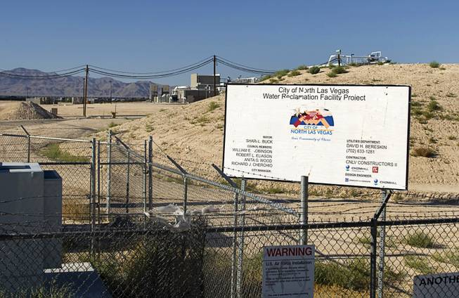A view of the new City of North Las Vegas Water Reclamation Facility by Carey Avenue and Betty Lane Thursday, June 23, 2011. The city originally had planned to build a pipeline to transport the treated wastewater to Lake Mead but the city is now releasing treated water into the open Sloan channel that flows into Lake Mead.