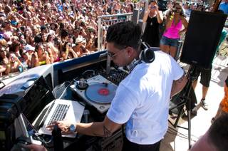 DJ Pauly D, well known for his role on MTV's Jersey Shore, kicks off the weekend launch of his residency at Palms Resort and Casino. Friday June 24th, 2011